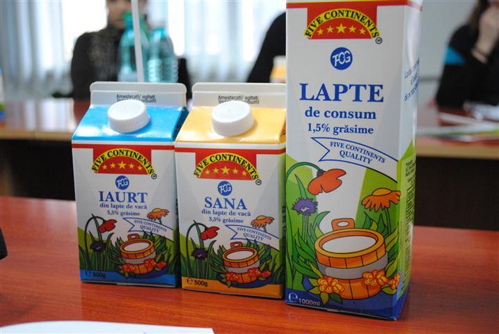 Produse lactate lansate pe piaţă de compania deţinută de Tonino Boldea